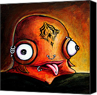 Fantasy Creatures Canvas Prints - Bad Boy Glob Canvas Print by Leanne Wilkes