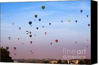 Hot Air Balloon Canvas Prints - Balloon Fiesta Canvas Print by Angel  Tarantella