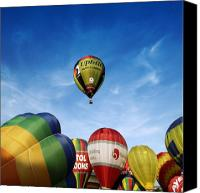 Balloon Fiesta Canvas Prints - Balloons Canvas Print by Angel  Tarantella