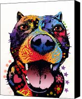 Dean Russo Mixed Media Canvas Prints - Bark Dont Bite Canvas Print by Dean Russo