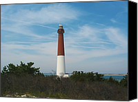 Barnegat Canvas Prints - Barnegat Lighthouse - New Jersey Canvas Print by Bill Cannon