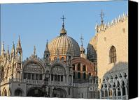 San Marco Canvas Prints - Basilica San Marco Canvas Print by Bernard Jaubert