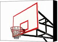 Basketball Canvas Prints - Basketball Hoop Canvas Print by Yali Shi