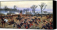 Civil War Painting Canvas Prints - Battle Of Fredericksburg Canvas Print by Granger