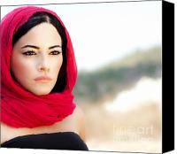 Gorgeous Women Canvas Prints - Beautiful arabic woman Canvas Print by Anna Omelchenko