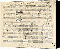 Major Canvas Prints - Beethoven Manuscript, 1826 Canvas Print by Granger