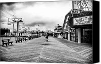 Jersey Shore Canvas Prints - Before the Crowds Canvas Print by John Rizzuto