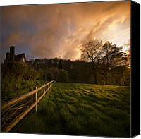 Hedge Canvas Prints - Behind The Fence Canvas Print by Angel  Tarantella