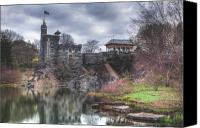 Belvedere Castle Canvas Prints - Belvedere Castle  Canvas Print by Ariane Moshayedi