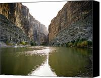 Canvas Wrap Canvas Prints - Big Bend Rio Grand River Canvas Print by M K  Miller