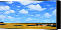 American Midwest Painting Canvas Prints - Big Sky Prairie Canvas Print by Holly Donohoe