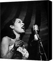 Women Canvas Prints - Billie Holiday (1915-1959) Canvas Print by Granger