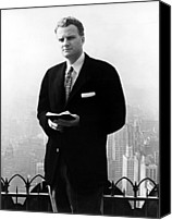 1950s Fashion Canvas Prints - Billy Graham . Evangelist With Bible Canvas Print by Everett