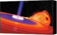 Science Fiction Canvas Prints - Black Hole Canvas Print by Don Dixon