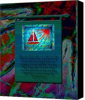 Transportation Tapestries - Textiles Canvas Prints - Blessings 2 Canvas Print by Sue Duda