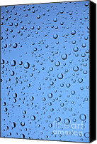 Active Canvas Prints - Blue Water Bubbles Canvas Print by Frank Tschakert