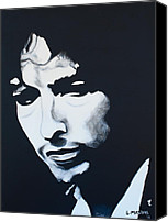 Bob Dylan Print Canvas Prints - Bob Dylan Canvas Print by Lisa Masters
