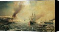 Engagement Canvas Prints - Bombardment of Sale Canvas Print by Jean Antoine Theodore Gudin