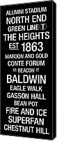 Baldwin Canvas Prints - Boston College College Town Wall Art Canvas Print by Replay Photos