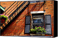 Staircase Canvas Prints - Boston house fragment Canvas Print by Elena Elisseeva