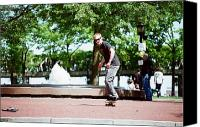 Kevin Callahan Canvas Prints - Boston Skater Canvas Print by Kevin Callahan