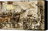 Tea Party Canvas Prints - Boston Tea Party, 1773 Canvas Print by Photo Researchers