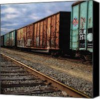 Modern Landscape Canvas Prints - Boxcars  Canvas Print by Bob Orsillo