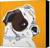 Boxer Dog Canvas Prints - Boxer  Canvas Print by Slade Roberts