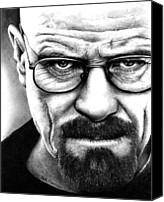 White Drawings Canvas Prints - Breaking Bad Canvas Print by Rick Fortson