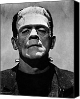 Horror Fantasy Movies Canvas Prints - Bride Of Frankenstein, Boris Karloff Canvas Print by Everett