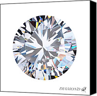 Stone Jewelry Canvas Prints - Brilliant Diamond Canvas Print by Setsiri Silapasuwanchai