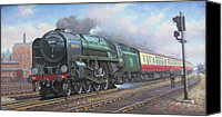 Train Painting Canvas Prints - Britannia pacific. Canvas Print by Mike  Jeffries