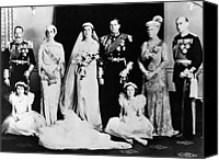 Bridesmaid Canvas Prints - British Royal Family. Seated, From Left Canvas Print by Everett