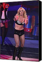 Britney Spears Canvas Prints - Britney Spears On Stage For The Circus Canvas Print by Everett