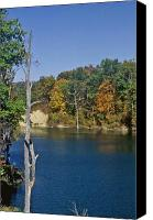 Indiana Autumn Canvas Prints - Brookville Lake Brookville Indiana Canvas Print by Gary Wonning
