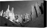 Bryce Canyon Canvas Prints - Bryce Canyon Infrared Canvas Print by Mike Irwin