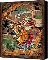 Whitetail Buck Canvas Prints - Bubba Deer Canvas Print by JQ Licensing