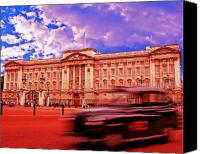 Windsor Canvas Prints - Buckingham Palace with Black Cab Canvas Print by Chris Smith