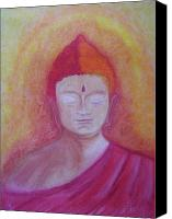 Relaxation Pastels Canvas Prints - Buddha Canvas Print by Stella Wilcox