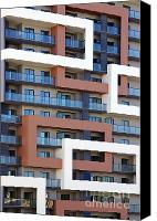 Backdrop Canvas Prints - Building facade Canvas Print by Carlos Caetano