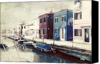 Old Houses Canvas Prints - Burano Canvas Print by Joana Kruse