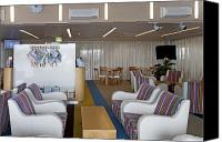 Airport Concourse Canvas Prints - Business Lounge at an Airport Canvas Print by Jaak Nilson