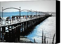 Ocean  Canvas Prints - Busy Whiterock Pier  Canvas Print by Eva Kondzialkiewicz