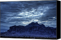 The Superstitions Canvas Prints - By Dawns Early Light  Canvas Print by Saija  Lehtonen