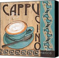Espresso Canvas Prints - Cafe Nouveau 1 Canvas Print by Debbie DeWitt