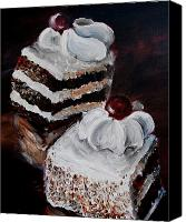 Torte Canvas Prints - Cake 02 Canvas Print by Nik Helbig