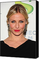 Dangly Earrings Canvas Prints - Cameron Diaz Wearing Lanvin Earrings Canvas Print by Everett