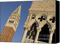 Italia Canvas Prints - Campanile. Plazza san Marco. Venice Canvas Print by Bernard Jaubert