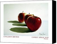 Apples Pastels Canvas Prints - Candy Apple Red Canvas Print by Colleen Brown