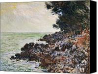 Cap Painting Canvas Prints - Cap Martin Canvas Print by Claude Monet
